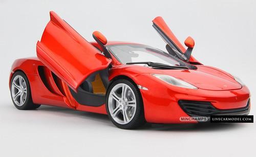 1/18 MINICHAMPS McLaren MP4-12C (ORANGE) Diecast Car Model