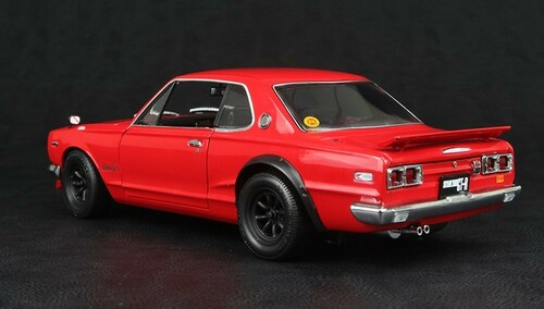 1/18 KYOSHO NISSAN SKYLINE 2000 GT-R GTR (KPGC10) w/ F SPOILER RS WATANABE (RED)