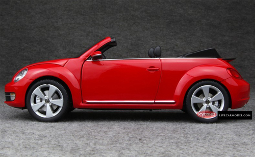 1/18 Kyosho VOLKSWAGEN VW BEETLE (RED) CONVERTIBLE Diecast Car Model