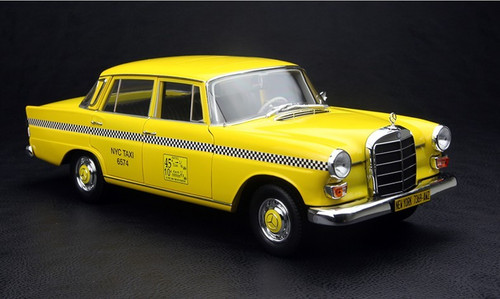 1/18 NOREV MERCEDES-BENZ 200 TAXI DIECAST CAR MODEL!