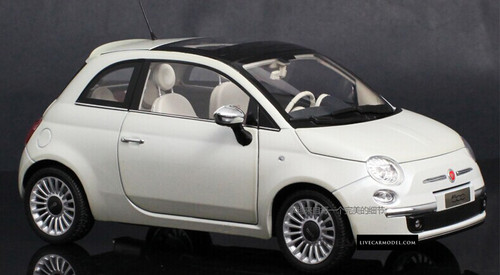 1/18 Norev Fiat 500 (White) Diecast Car Model