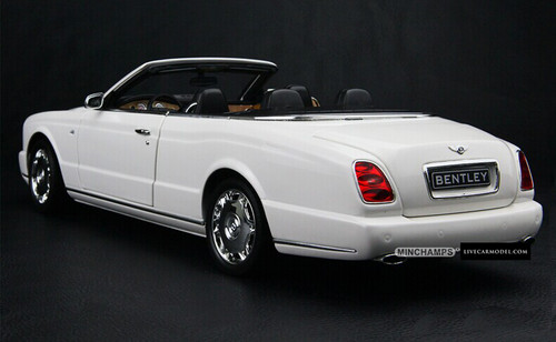 1/18 MINICHAMPS BENTLEY AZURE GTC (WHITE) DIECAST CAR MODEL!