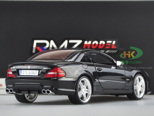 1/18 RMZ Mercedes-Benz Mercedex SL63 AMG Convertible (Black) Diecast Car Model
