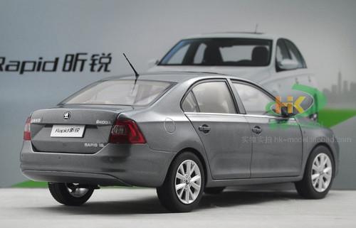 1/18 Dealer Edition SKODA RAPID SEDAN (Grey) Diecast Car Model
