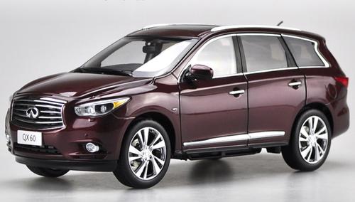 1/18 Dealer Edition 2014 Infiniti QX60 (Wine Red) Diecast Car Model