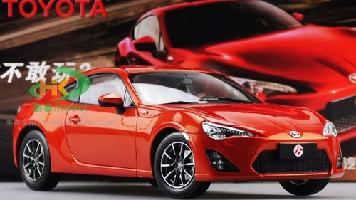 1/18 Dealer Edition Toyota 86 GT86 (Orange Red) Diecast Car Model