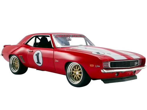 1/18 GMP Big Red Camaro - 1969 Chevrolet Camaro (Red with White Stripes) Diecast Car Model Limited 1050 Pieces