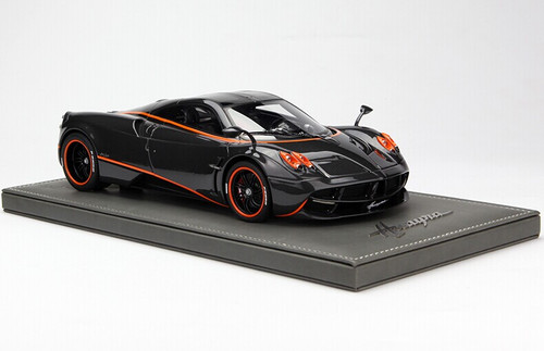 LIMITED 50! BBR HANDMADE 1/18 PAGANI HUAYRA (Black w/ Orange Stripes)