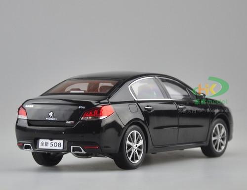 1/18 Dealer Edition 2015 Peugeot 508 508L (Black) Diecast Car Model