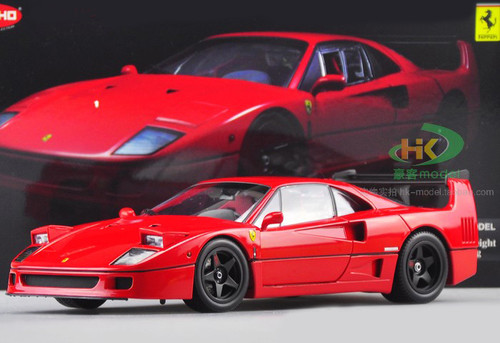 1/18 Kyosho Ferrari F40 Light Weight LM Wing (Red) Diecast Car Model
