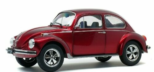 Solido 1:18 1974 Volkswagen Beetle 1303 (Candy Red) Diecast Car Model