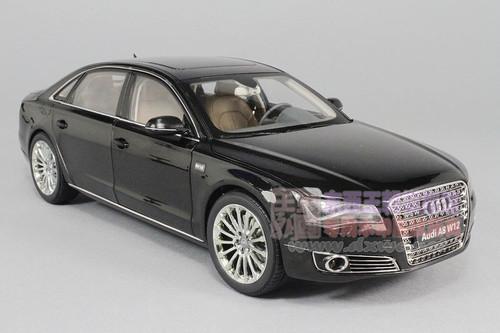 1/18 Kyosho 2014 Audi A8 A8L W12 (Black w/ Brown Interior) Diecast Car Model