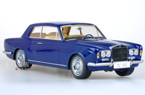 1/18 Paragon 1968 Rolls-Royce Silver Shadow Mulliner Park Ward Coupe (Blue)