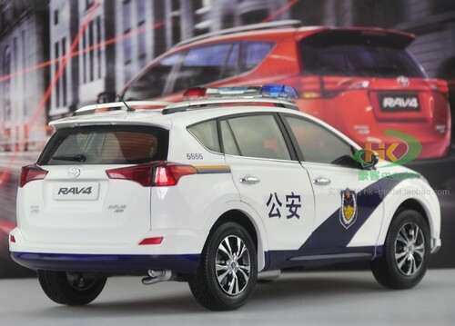1/18 Dealer Edition Toyota RAV4 Police Car Diecast Car Model