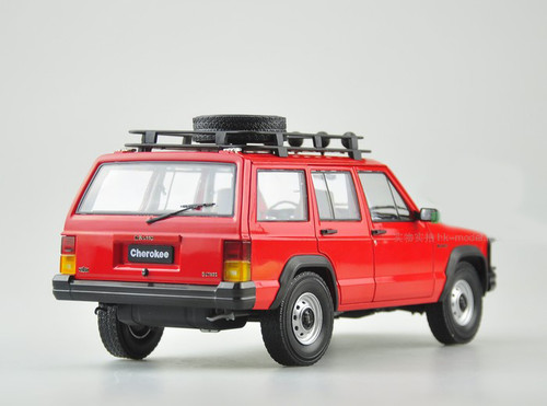 1/18 Dealer Edition Classic Jeep Cherokee (Red) Diecast Car Model