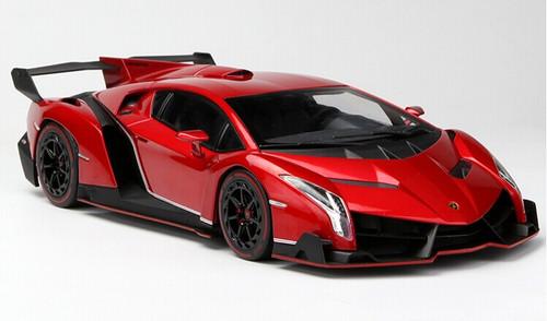 1/18 Kyosho Lamborghini Veneno Hardtop (Red w/ Red Line) Car Model