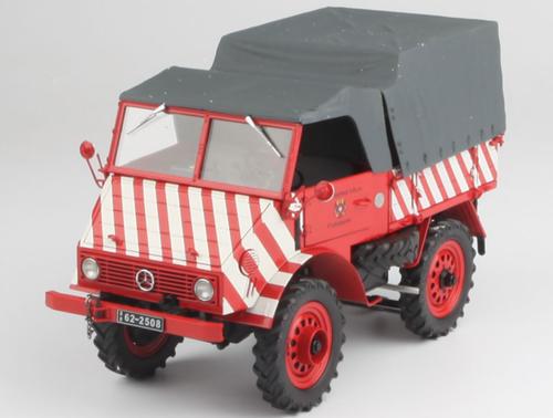 1/18 Schuco Mercedes Benz Unimog 401 Mit Softtop und Plane Stadtwerke Köln Diecast Car Model