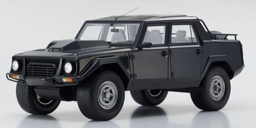 1 18 Kyosho Lamborghini Lm002 Black Enclosed Car Model