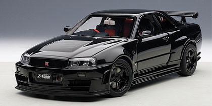 Gtr R34 For Sale >> 1/18 AUTOart NISSAN NISMO R34 GT-R GTR Z-TUNE(BLACK) Diecast Car Model 77355 - LIVECARMODEL.com