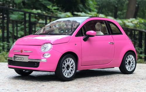 1 18 Norev Fiat 500 Pink Diecast Car Model