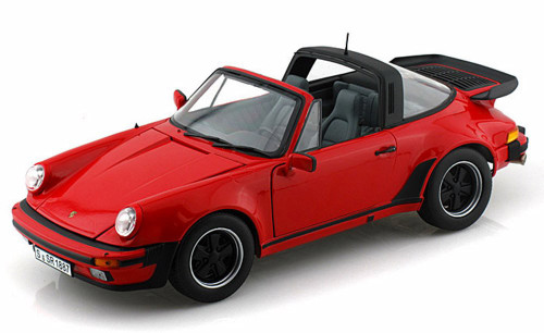 1 18 Norev 1987 Porsche 911 Turbo Targa Red Diecast Car Model