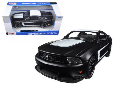 Ford Mustang Boss 302 Noir Mat Voiture Miniature 1:24//Maisto