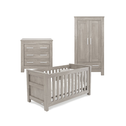 Babystyle Bordeaux Ash Furniture - 3 Piece Room Set