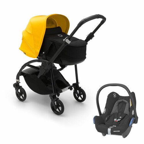 Bugaboo Bee 6 Complete + Cabriofix - Black/Lemon Yellow