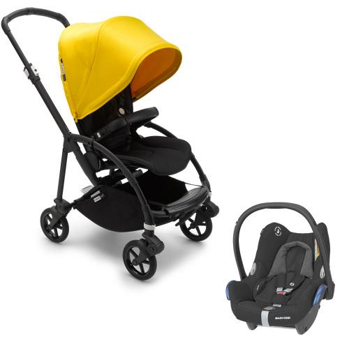 Bugaboo Bee 6 Pushchair + Cabriofix - Black/Lemon Yellow