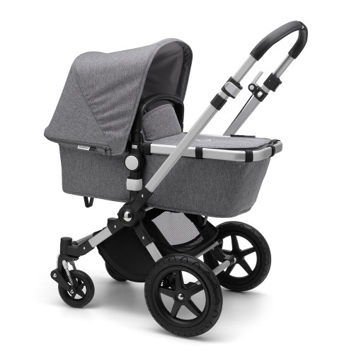 Bugaboo Cameleon 3 Plus on Alu/Grey Melange Chassis - carrycot mode