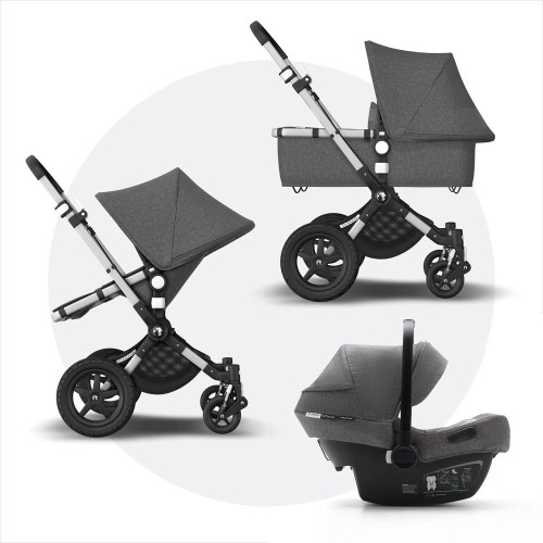 Bugaboo Cameleon 3 Plus Complete + Turtle Air - Alu/Grey Melange