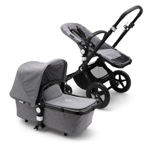Bugaboo Cameleon 3 Plus on Black/Grey Melange Chassis - Grey Melange