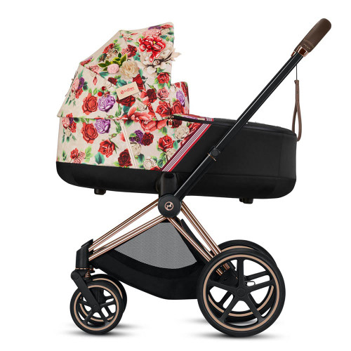 Cybex e-Priam Pram inc Lux Carrycot - Spring Blossom Light
