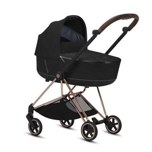 Cybex Mios Travel System inc Lux Carrycot - Deep Black