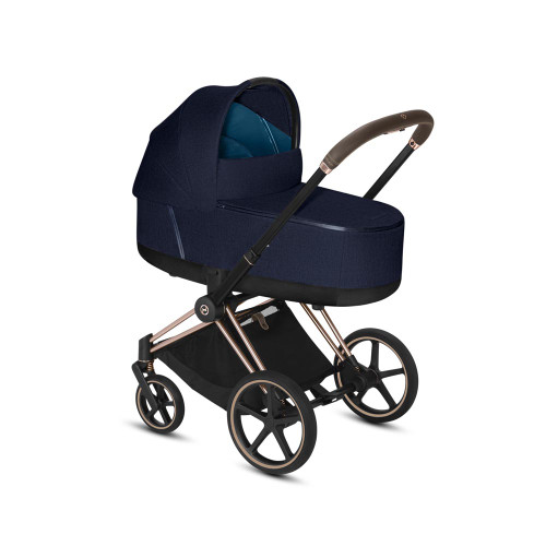 Cybex Priam Plus Travel System inc Lux Carrycot - Midnight Blue
