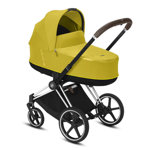Cybex Priam Travel System inc Lux Carrycot - Mustard Yellow