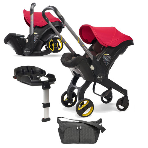 Doona+ Infant Car Seat + ISOFIX Base & FREE Accessories - Flame Red