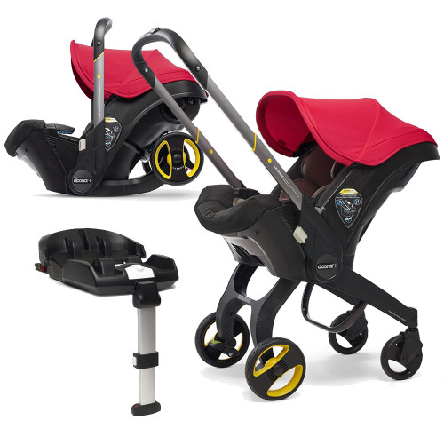 Doona+ Infant Car Seat + ISOFIX Base - Flame Red