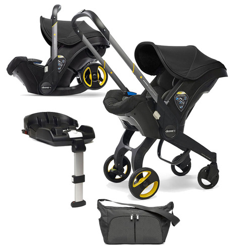Doona+ Infant Car Seat + ISOFIX Base & FREE Accessories - Nitro Black