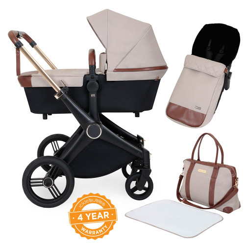 Ickle Bubba Aston Rose 2-in-1 Pram - Stone
