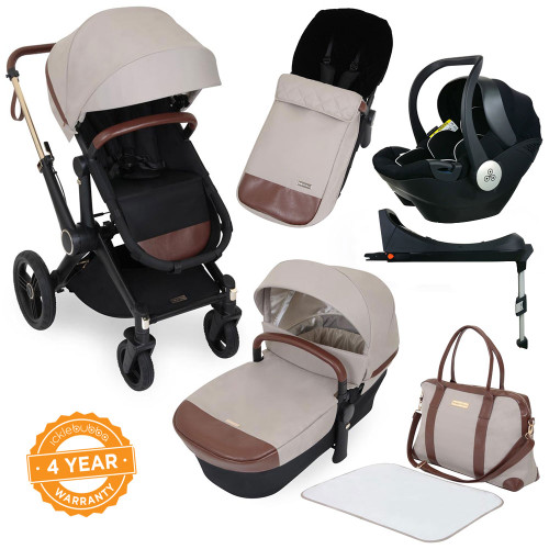 Ickle Bubba Aston Rose i-Size Travel System - Stone