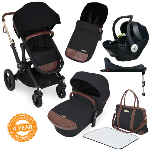 Ickle Bubba Aston Rose i-Size Travel System - Black