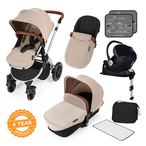 Ickle Bubba Stomp V3 i-Size All-in-One Travel System - Sand/Silver