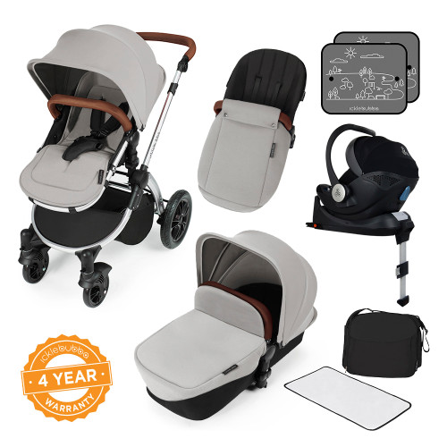 Ickle Bubba Stomp V3 i-Size All-in-One Travel System - Silver/Silver
