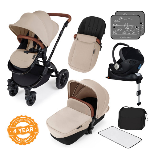 Ickle Bubba Stomp V3 i-Size All-in-One Travel System - Sand/Black