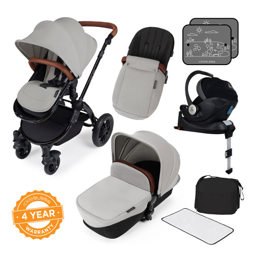 Ickle Bubba Stomp V3 i-Size All-in-One Travel System - Silver/Black