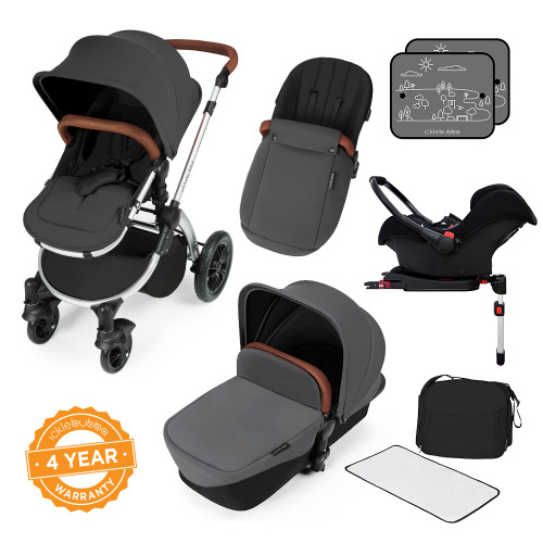 Ickle Bubba Stomp V3 All-in-One Travel System - Graphite Grey/Silver
