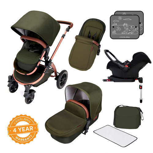 Ickle Bubba Stomp V4 All-in-One Travel System - Woodland/Bronze