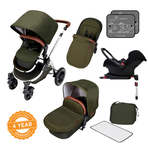 Ickle Bubba Stomp V4 All-in-One Travel System - Woodland/Chrome