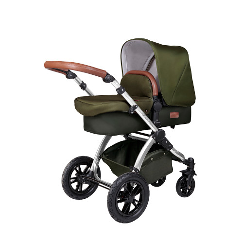 Ickle Bubba Stomp V4 Special Edition Pram - Woodland/Chrome
